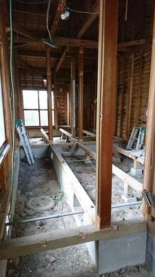木もまちづくり事業_改装工事内部解体完了:スケルトン