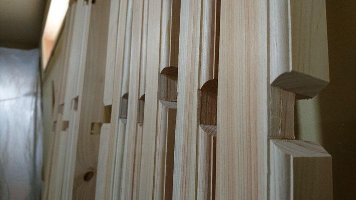 公募型木のまちづくり事業_新築:1F桧格天井造作