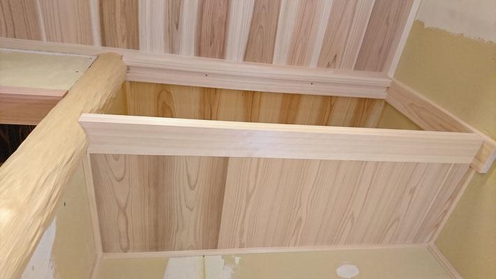 公募型木のまちづくり事業_新築:客室床の間造作中
