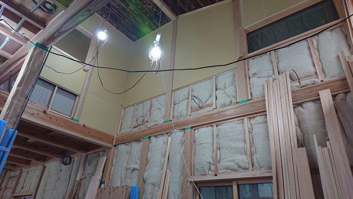 緑の木まち拡大事業:新築物件_木工事:吹き抜け周囲工事
