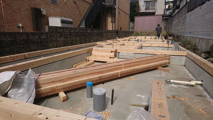 木のまちづくり事業_新築土台引き