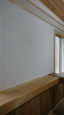 天然塗壁材「Healthywall京工」による仕上げ