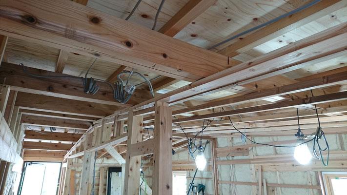 木もまちづくり事業_2F府産材による構造補強完了