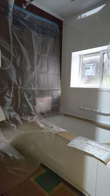 京町家改装工事_トクラスバスルーム設置完了