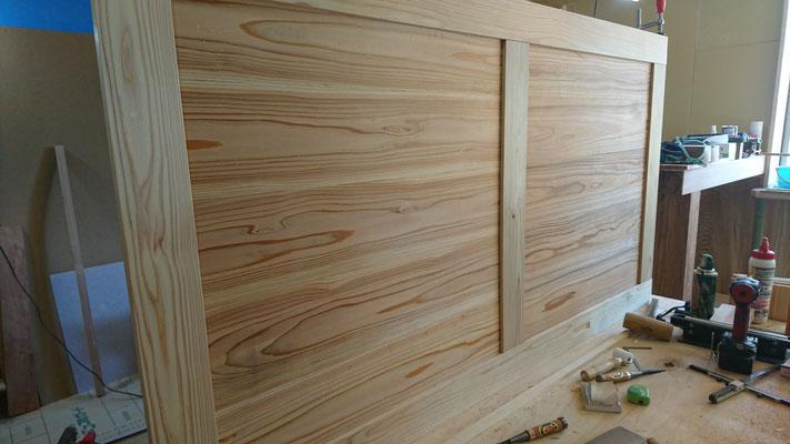 杉の框組建具