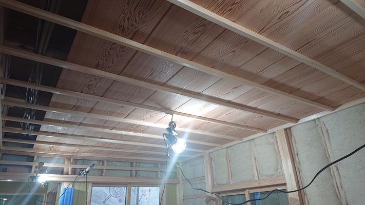 緑の木まち拡大事業:新築物件_木工事:和室竿天井