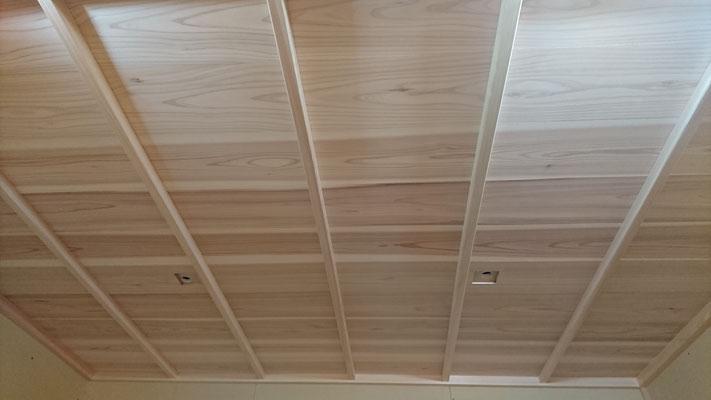 公募型木のまちづくり事業_新築:府産材桧で竿天井