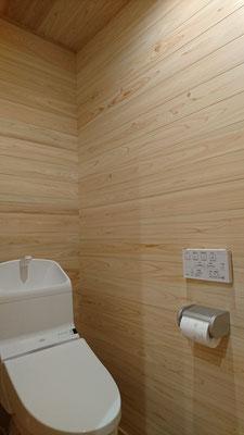 公募型木のまちづくり推進事業_4Fトイレ完成・塗装待ち