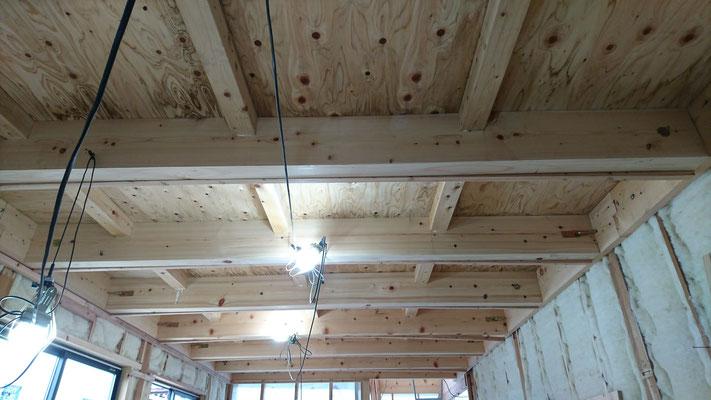 木もまちづくり事業_1F府産材による構造補強完了