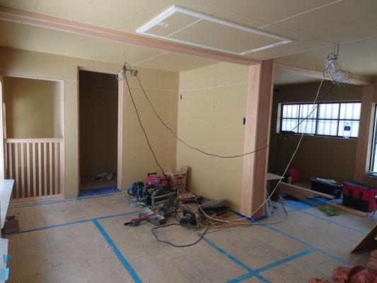 京町家改装工事_2階木工事完了