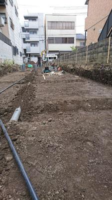 木のまちづくり事業_新築基礎工事前配管