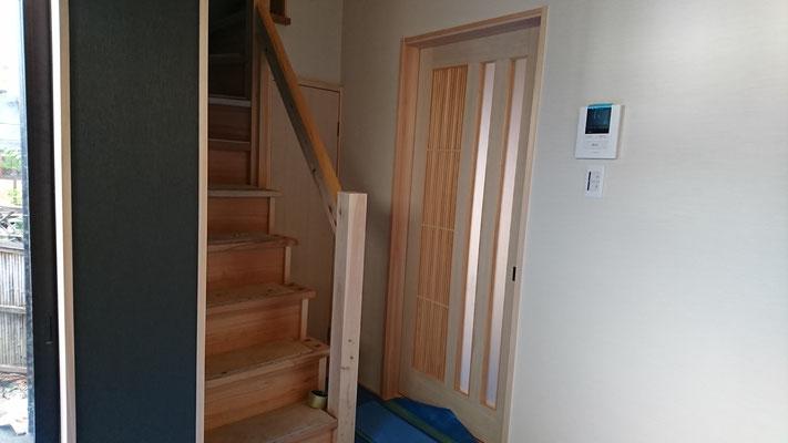 公募型木のまちづくり事業_改装内装室内建具建付完了