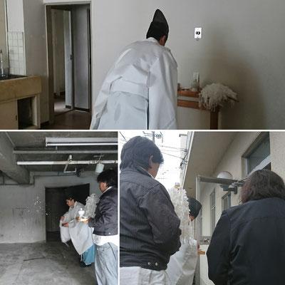 改装工事現場清め祓い式|大石神社様|タクミ建設|京町家リノベーション