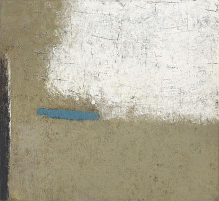 Matière couleur bleu-noir 125x115cm 2019