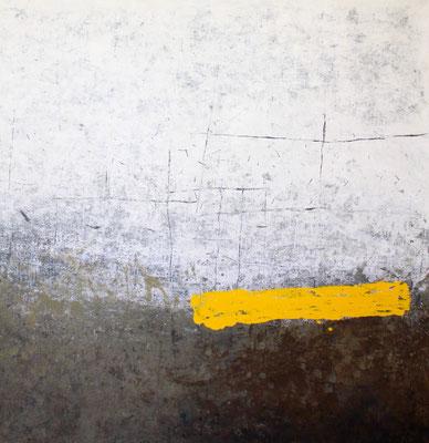 Matière-couleur jaune 125x115cm 2020