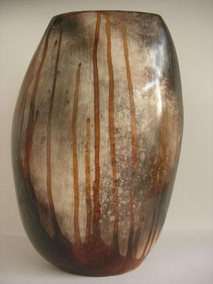 N° 7 Terre sigillée ,porcelaine ,980°, Enfumage H32cmxL23cm