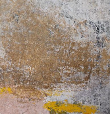 Matière-couleur rose jaune 45x45cm