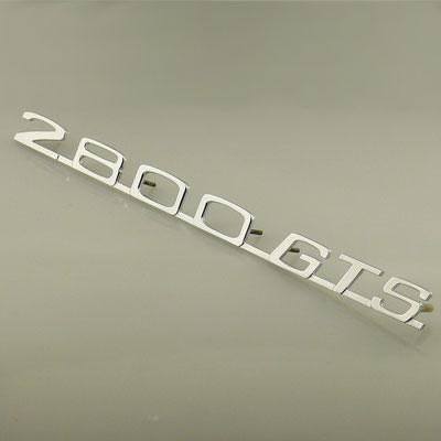 Anfertigung von Schriftzug für BMW 2800 GTS aus massivem Messing mit glänzend verchromter Oberfläche. - nachguss.de
