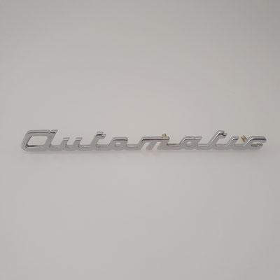 "Nachguss von Schriftzug ""automatic"" aus Messing. Echte Handarbeit mit verchromter Oberfläche. - nachguss.de"
