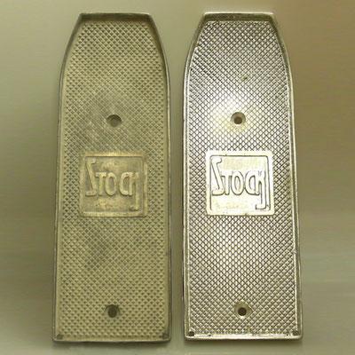 Nachguss einer Trittplatte für Stock 1923-1924 aus Aluminium von nachguss.de