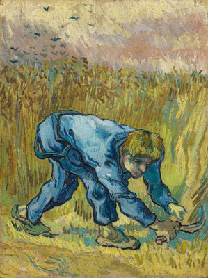 ①Vincent van Gogh : Le moissonneur (d'après Jean-François Millet) 1889,Huile sur toile, 44 x 33 cm Van Gogh Museum, Amsterdam (Vincent van Gogh' Foundation)© Van Gogh Museum, Amsterdam (Vincent van Gogh Foundation)