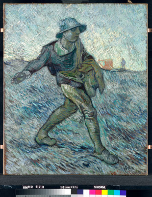 ⑥Vincent van Gogh : Le semeur (d'après Jean-François Millet) 1890 - Huile sur toile 64 x 55 cm Coll. Kröller-Müller Museum, Otterloo, inv. KM 110.673 © Stichting Kröller-Müller Museum