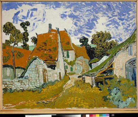 ③Vincent van Gogh Rue à Auvers-sur-Oise 1890-Huile sur toile 73 x 92,5 cm Ateneum Art Museum Finnish National Gallery Hannu Aaltonen © Ateneum Art Museum Finnish National Gallery - Hannu Aaltonen