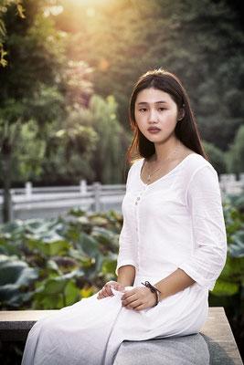 Portrait von Yan Zi in Humen, China
