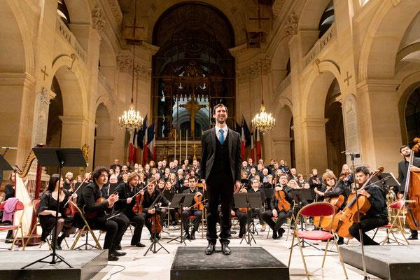 9 novembre 2019-Cathédrale des Invalides, Benjamin FAU chef d'orchestre