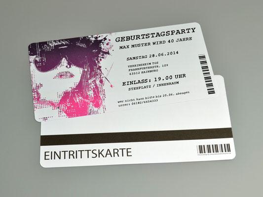 Einladungskarten Geburtstag als Ticket Eintrittskarte Einladung Karte Konzertkarte