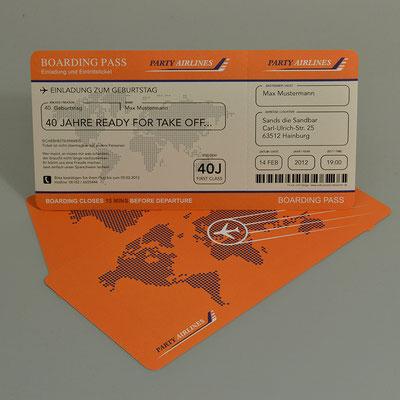 Einladungskarten Flugticket  Geburtstag  Ticket  Einladung  Karte Boarding Pass Partyairline