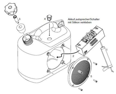 Zusammenbau des Bluetooth-Kanisters
