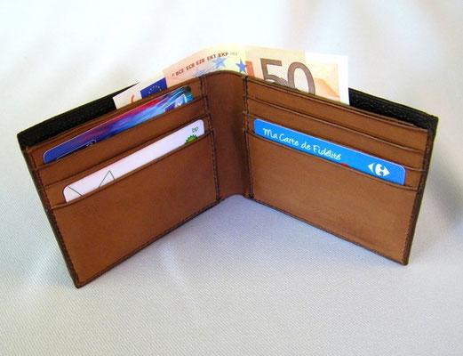 portefeuille, porte-carte, France, artisanal, fait-main, cuir, homme