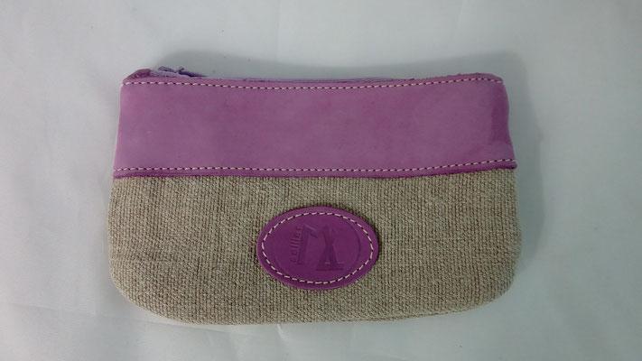 idée cadeau,pochette, trousse,cuir, lin, made in France, artisanal, créateur, haut de gamme