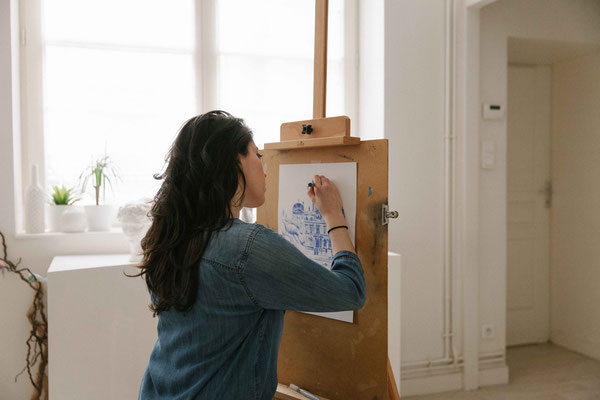 01. Dessin de ville - Audrey Apruzzese - Dessinatrice Lyonnaise Illustratrice