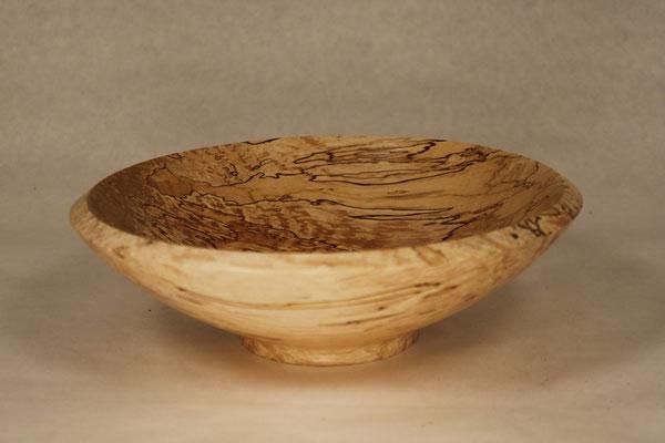 Holzart: Birke gestockt Durchmesser: 25cm Höhe:   8cm Oberfläche: Shellwax Cream