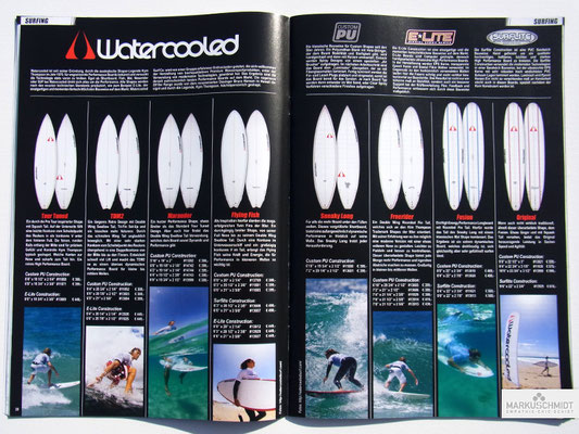Job: Editorial, Client: TTP Brandnews Magalog (Tekkno Trading Project GmbH), Chapter: Watercooled Surfboards