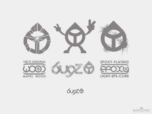 Job: Logo & Label Design, Client: Bugz Skimboards, Agency: Seismo
