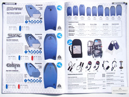 Job: Editorial, Client: TTP Brandnews Magalog (Tekkno Trading Project GmbH), Chapter: Bugz Bodyboards