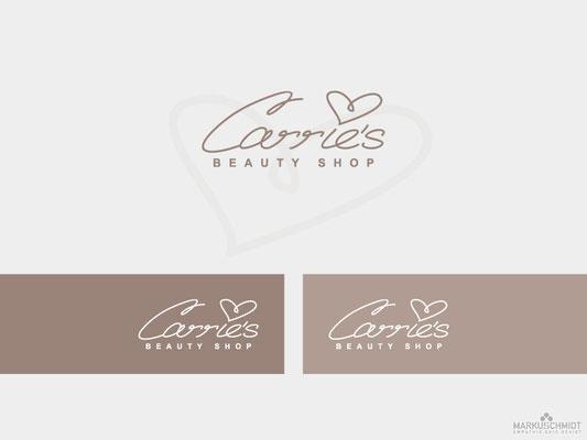 Job: Logo Design, Client: Carrie's Beauty Shop