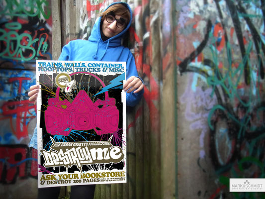 Job: Poster, Client: DestroyMe (Graffiti-Book)