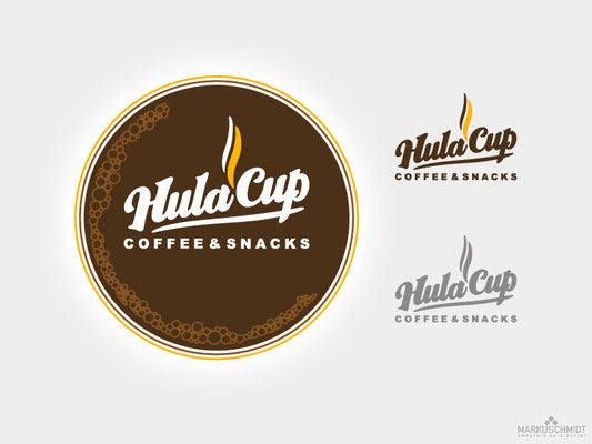 Job: Logo Design, Client: Hula Cup - Coffee & Snacks