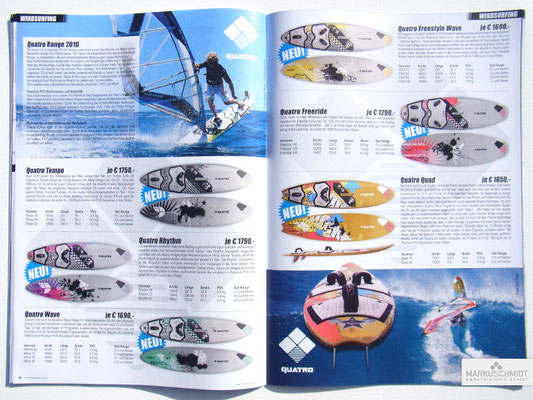 Job: Editorial, Client: TTP Brandnews Magalog (Tekkno Trading Project GmbH), Chapter: Quatro Surfboards