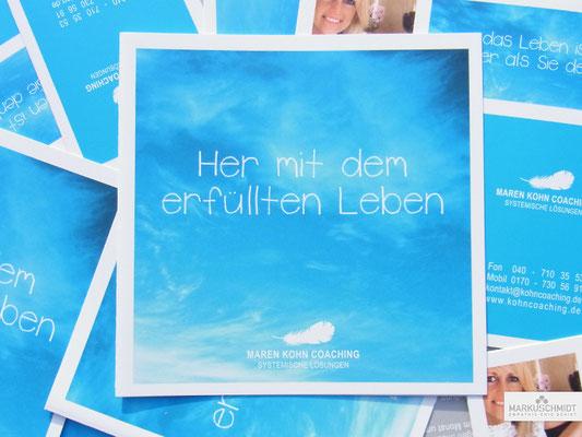 Job: Flyer, Client: Maren Kohn, Bewusstseinscoach