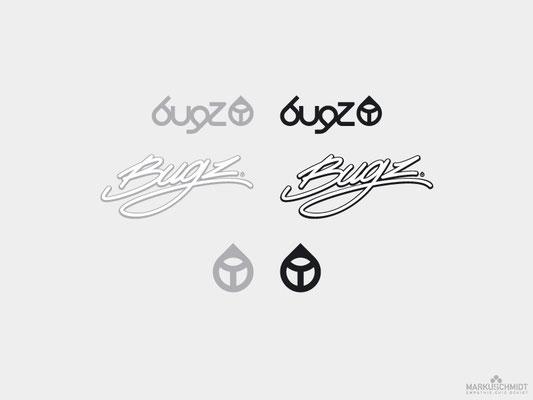 Job: Logo Design, Client: Bugz Surfboards, Agency: Seismo
