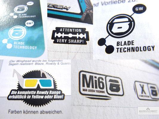 Job: Logos & Icons, Client: Blade Sails