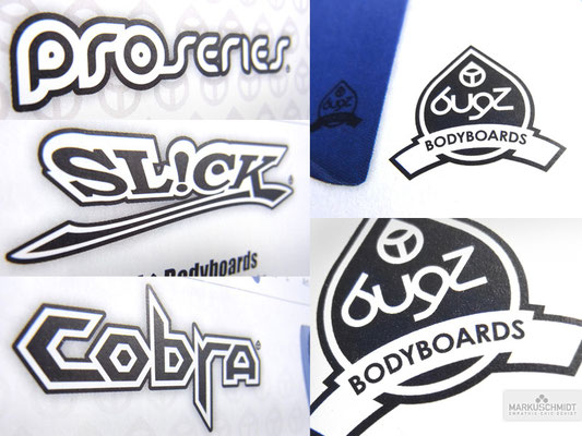 Job: Logos & Icons, Client: Bugz Bodyboards