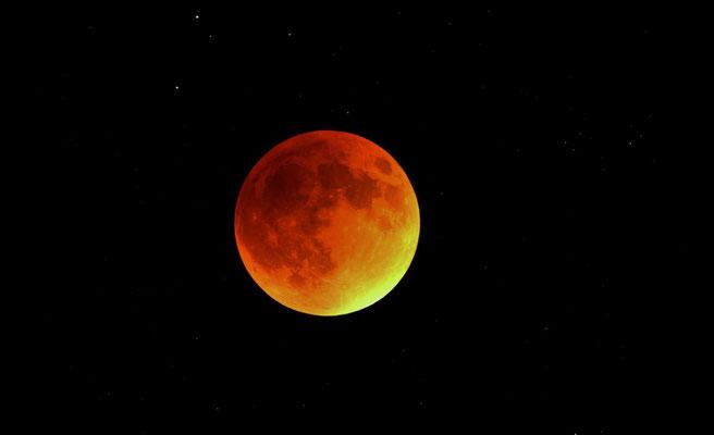 éclipse de Lune, C14 hyperstar, 3x3s + 1x30s, 28 septembre, Lionel