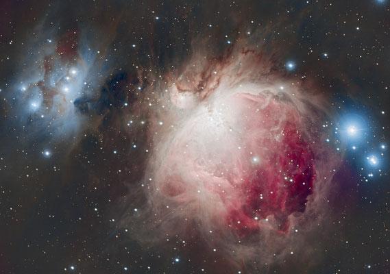 M42, C14 hyperstar, 20x5s + 20x30s + 60x120s, 29 et 30 novembre 2016, Lionel