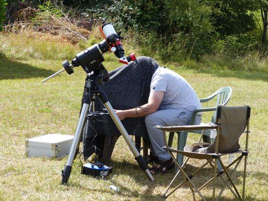 5 août : acquisition des images du soleil